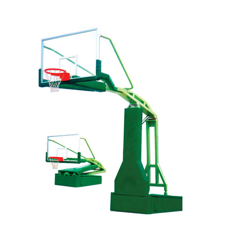 Green Outdoor Basketball Hoop , Portable Basketball Stand Steel Material For School